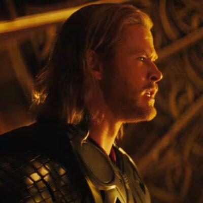 Screenshot of Chris Hemsworth as Thor in Marvel's Thor.