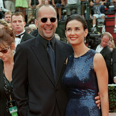 Bruce Willis and Demi Moore together at a red carpet event when they were married