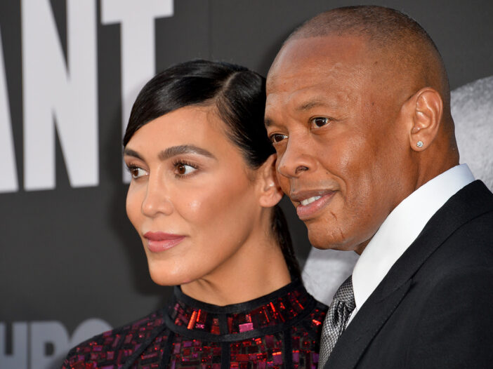 Close up of Dr. Dre and Nicole Young