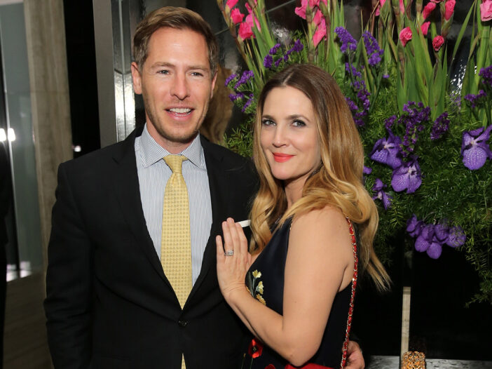 Will Kopelman on the left, standing with Drew Barrymore