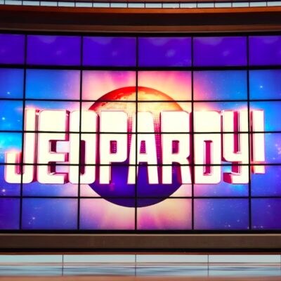screenshot of the opening board of Jeopardy