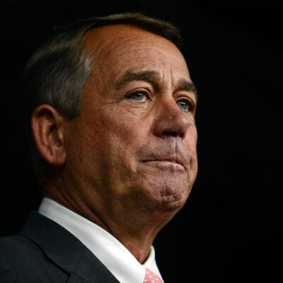 Close up of John Boehner's face