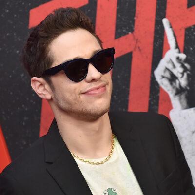 Pete Davidson wearing sunglasses.