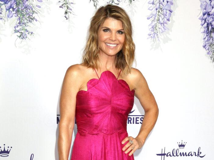 Lori Loughlin in a pink dress