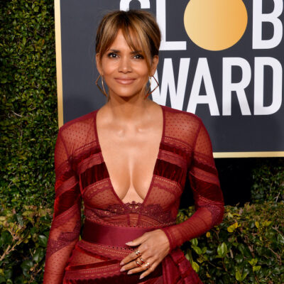 Halle Berry in a red dress