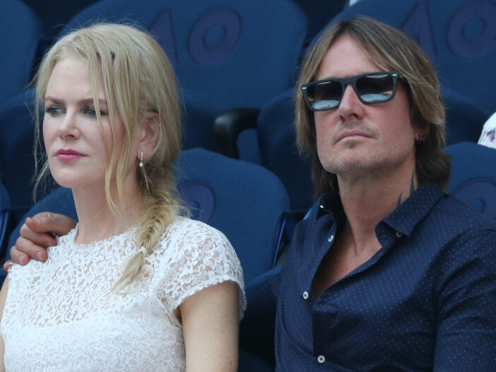 Nicole Kidman and Keith Urban sitting together