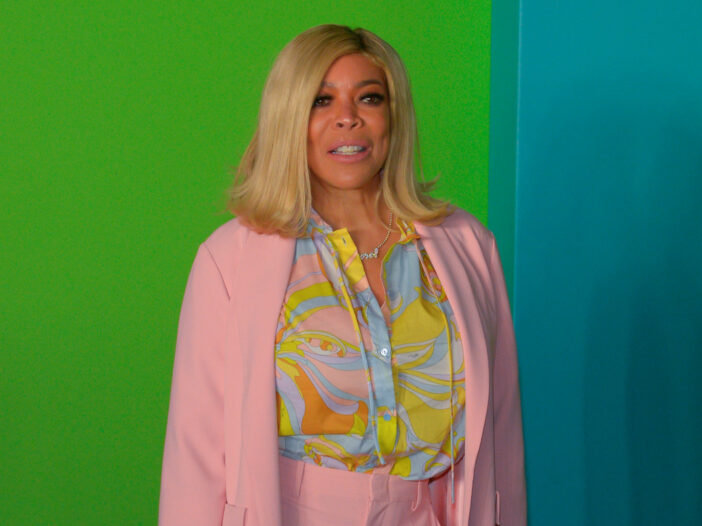 Wendy Williams in a pink pantsuit