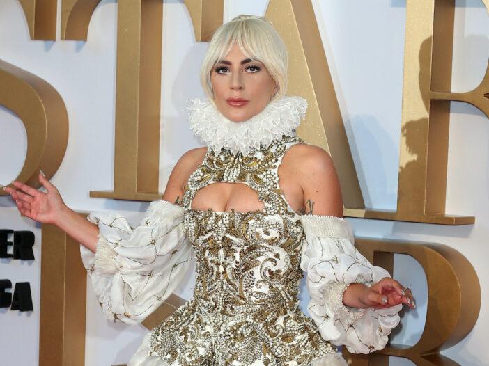 Lady Gaga in an ornate dress