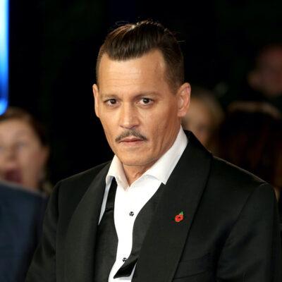 Johnny Depp in a tuxedo