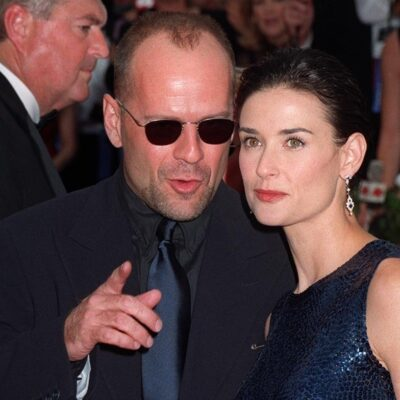 Bruce Willis and Demi Moore on the red carpet