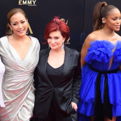 The ladies of The Talk stand together on the red carpet
