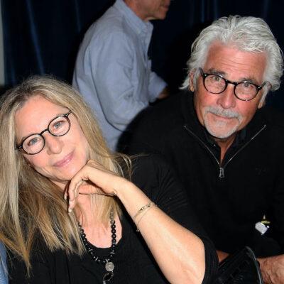 James Brolin sitting down with Barbra Streisand