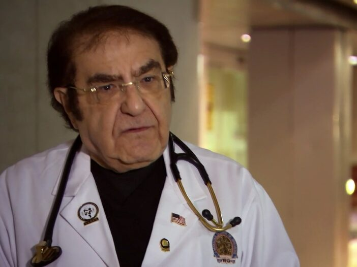 """Dr. Now in a white doctor's coat on 'My 600-Lb Life."""""""