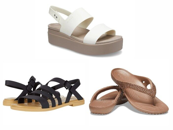 Cover image featuring different styles of Crocs sandals.
