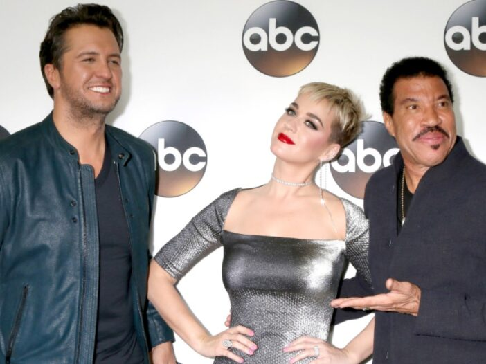 Luke Bryan, Katy Perry, and Lionel Richie at an American Idol event
