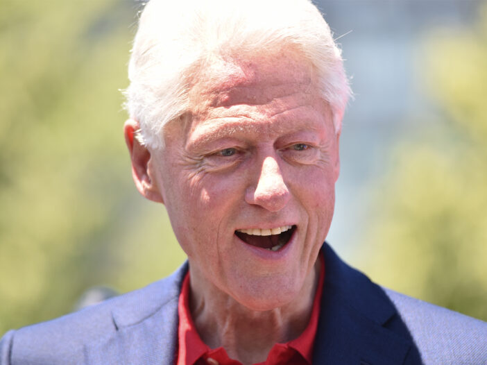Bill Clinton looking surprised.