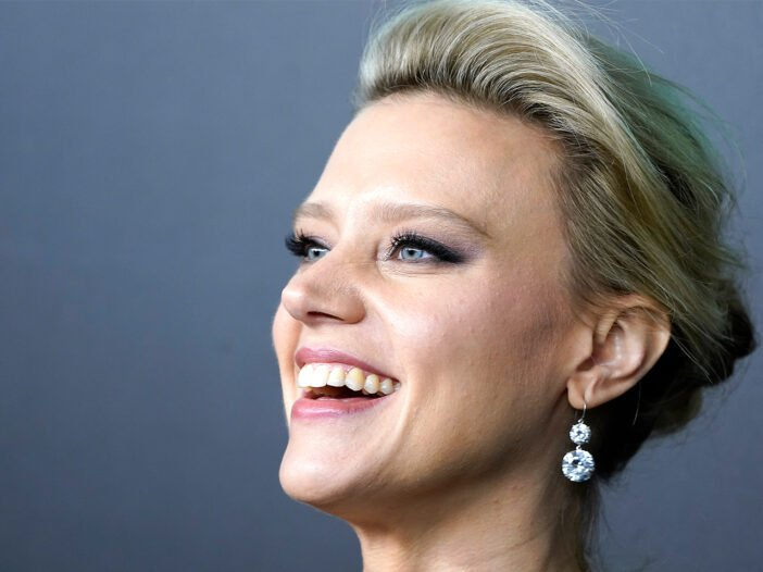 Close up of Kate McKinnon smiling