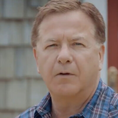 Screenshot of Mark McCloskey from his video announcing his senate campaign in Missouri