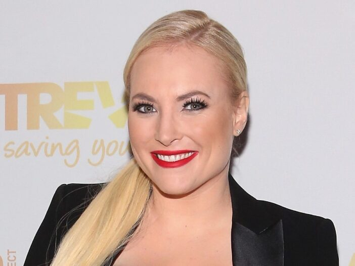 Meghan McCain wears a black pant suit to a Trevor Project event