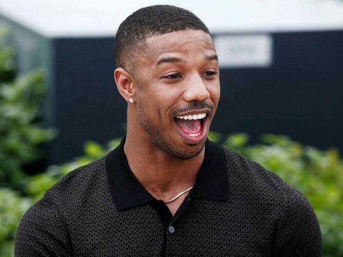 Micheal B. Jordan laughing