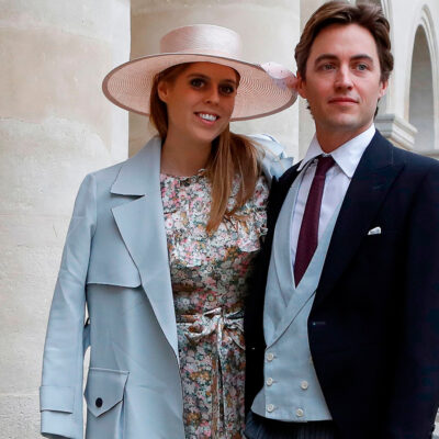 Princess Beatrice and Edoardo Mapelli Mozzi standing together