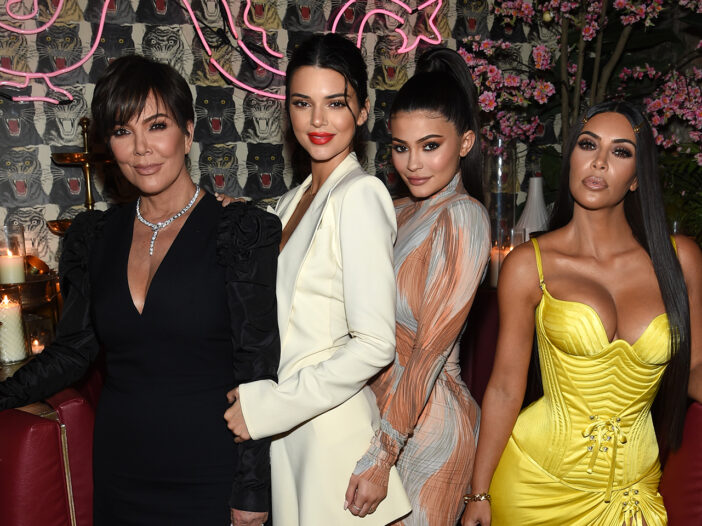 From left to right, Kris Jenner, Kendall Jenner, Kylie Jenner, and Kim Kardashian