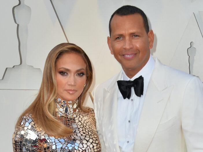 Alex Rodriguez in a tux with Jennifer Lopez in a dress