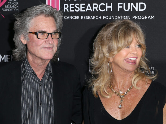 Kurt Russell and Goldie Hawn smiling together