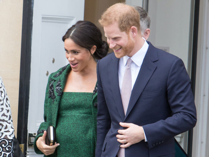Meghan Markle and Prince Harry outdoors together