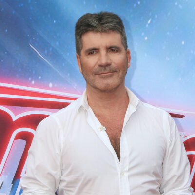 Simon Cowell in a white button up