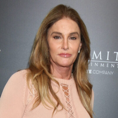 Caitlyn Jenner in a peach outfit