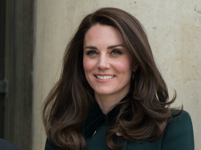 Kate Middleton in a green jacket