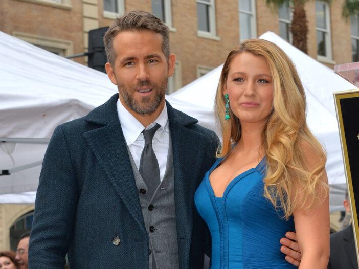 Blake Lively and Ryan Reynolds smiling together