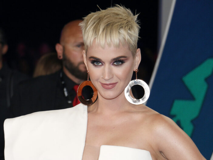 Cover image of Katy Perry in a fashionable ensemble.
