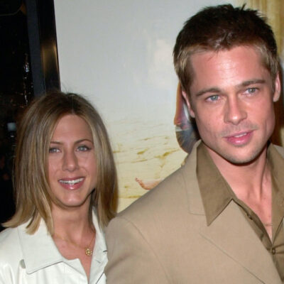 Brad Pitt and Jennifer Aniston in 2001
