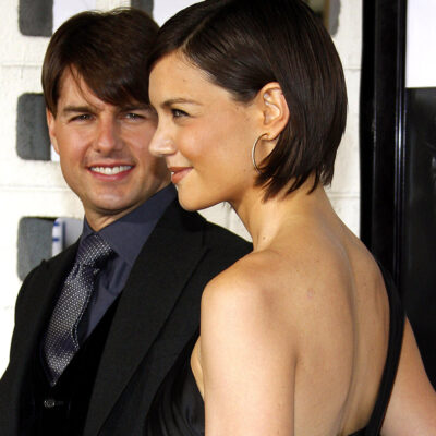 Tom Cruise with his arm around Katie Holmes in 2007