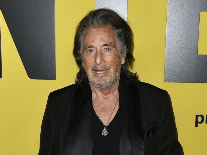 Al Pacino in a black coat and shirt