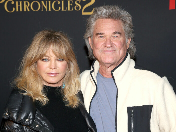 Kurt Russell and Goldie Hawn at The Christmas Chronicles 2 premiere