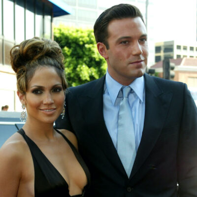 Ben Affleck and Jennifer Lopez on the red carpet in 2003