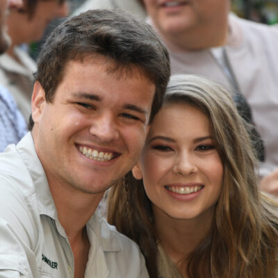 Chandler Powell and Bindi Irwin smiling together