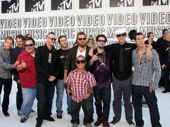 The cast of 'Jackass' at the MTV VMAs.