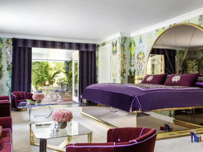 Delevingne's bedroom.