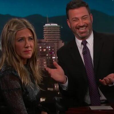 screenshot of Jennifer Aniston and Jimmy Kimmel
