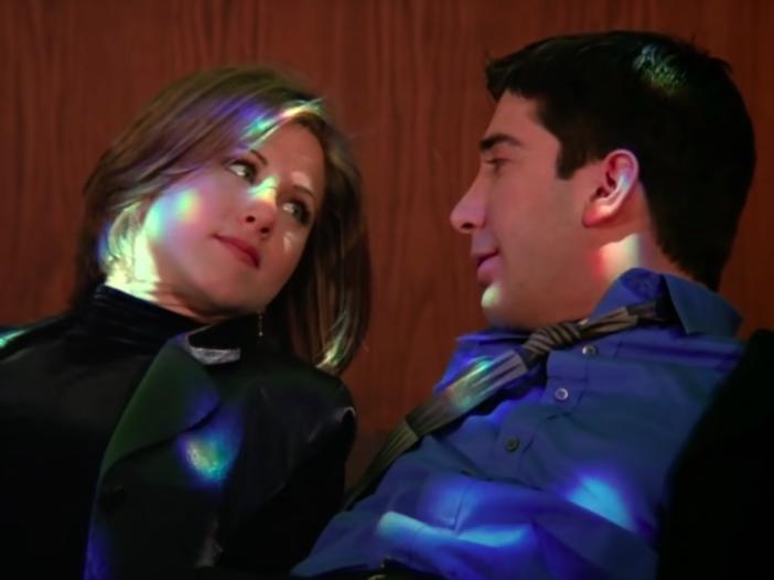 screenshot of Jennifer Aniston and David Schwimmer on Friends