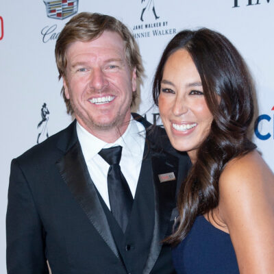 Chip and Joanna Gaines smiling in formal wear