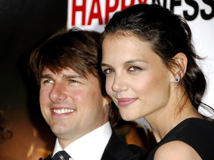 2000s close up photo of Tom Cruise and Katie Holmes