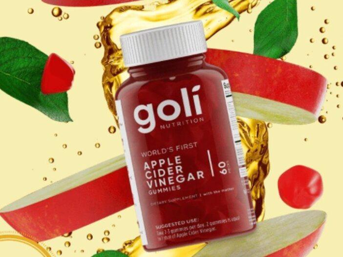 A bottle of goli gummies.