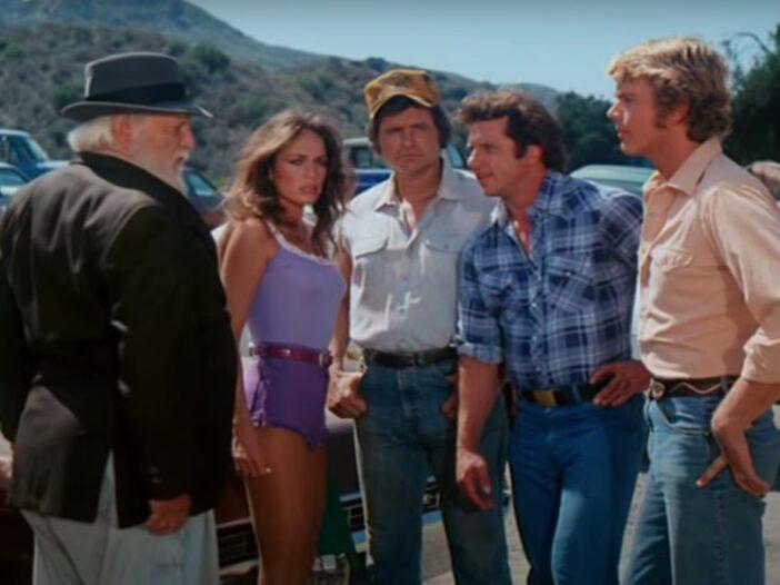 screenshot of Dukes of Hazzard with the Duke Boys and Daisy Duke