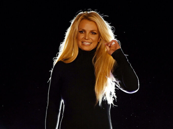 Britney Spears in a black sweater