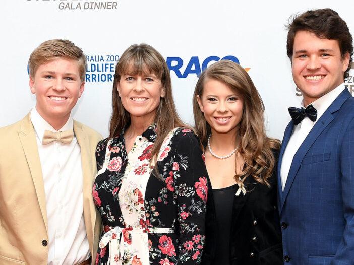 Robert, Terri, and Bindi Irwin with Chandler Powell